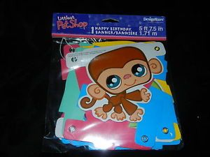 Littlest Pet Shop Happy Birthday Party Banner
