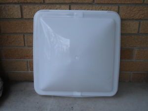 RV camper Horse Trailer Roof Vent Lid 14x14 New White