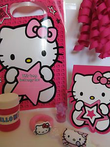 Girls Hello Kitty Filled Birthday Party Bags Loot Bags