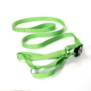Light Green Easy Walk Pet Dog Harness Leader with Pull Free Leashes Size M