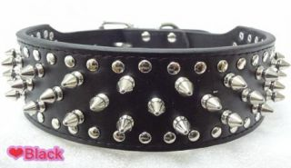 Spikes Studded Leather Dog Harness with Collar Set Pit Bull Dog Harness Collars