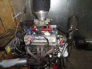 368 SBC 18 Degree Latemodel Drag Race Engine Chevy 625HP Jesel Brodix