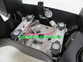 2005 2007 Chevy GMC Hummer Black Leather Steering Wheel w Switches New