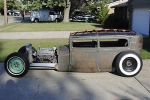 1929 Ford Model A Tudor Sedan Hot Rod Rat Rod