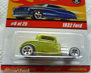 Hot Wheels 1932 Ford Spectraflame Antifreeze '32 Ford Hot Rod Coupe 1932 Hot Rod