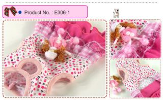 Dog Cat Clothes Skirts Doll Brooch Dresses E306