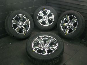 "20"" 2013 Dodge RAM 1500 Chrome Clad Factory Wheels Rims Goodyear Tires 2450"