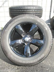 "20"" Dodge RAM 1500 Factory Gloss Black Wheels with Goodyear Tires 2453 092501"