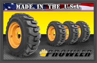4 Guard Dog 6 Lug Skid Steer Wheels Rims Tires 10 Ply Case 1840 Gehl Thomas