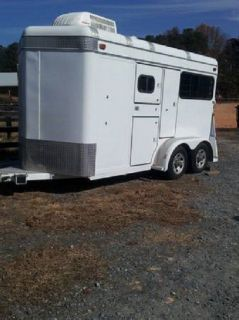 Sundowner 2 Horse Bumper Pull Trailer Warmblood Size w Ramp AC Dressing Room