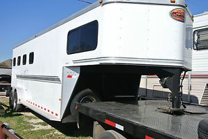 2004 '04 Sundowner Sunlite 727 4 Horse Slant Trailer Gooseneck 5th Wheel Nice