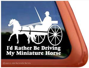 Miniature Horse Driving Quality Vinyl Horse Trailer Window Decal Sticker