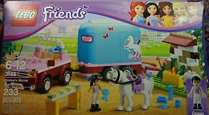 Lego Friends 3186 Emma's Horse Trailer NIB 233 Pcs