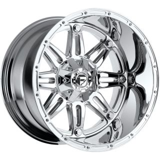 20x14 Chrome Fuel Hostage Wheels 8x6 5 76 Lifted Hummer H2