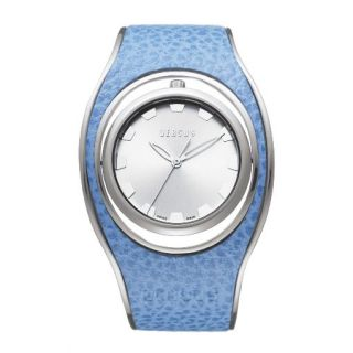 Versus by Versace Ladies Hip Hop Blue Bangle Watch with Flipping Case