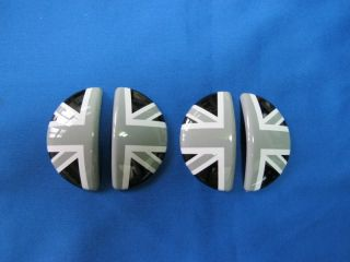 Mini Cooper Countryman R60 Black Union Jack Aluminum Interior Door Handle Cover