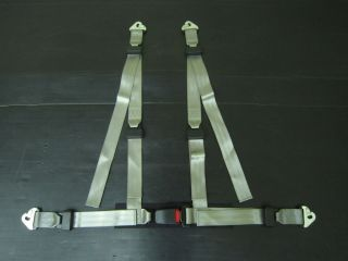 Harnesses Grey 4 Points Racing Harness Seat Safety Track Car 47mm Belt Buckle