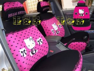 New Hello Kitty Lace Car Seat Covers