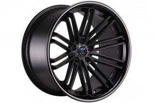 "Brand New 20"" Audi A7 Rohana RC20 Matte Black Deep Concave Staggered Wheels Rims"