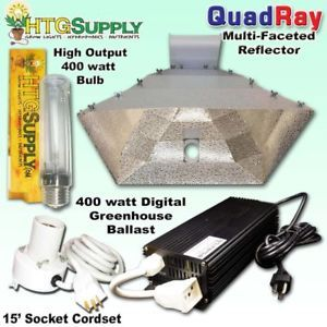Digital 400 Watt HPS Grow Light System w Sun 2x2 Hood