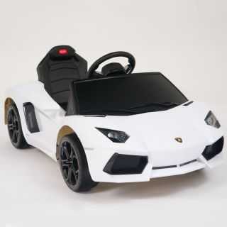 Lamborghini White Aventador LP700 4 Ride on Kids Battery Powered Wheels Car RC
