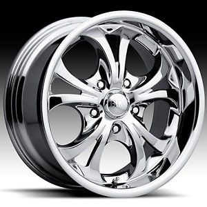 18 x9 Boss 304 3046 Chrome Wheels Rims 5 6 8 Lug