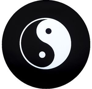 Customgrafixtirecovers™→ying Yang Jeep Spare Tire Cover Trailer SUV's RV'