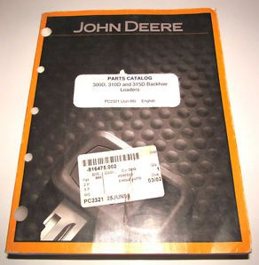 John Deere 300D 310D 315D Tractor Loader Backhoe Parts Catalog Manual Original