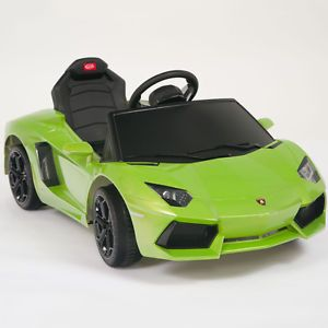 Lamborghini Green Aventador LP700 4 Ride on Kids Battery Powered Wheels Car RC