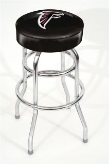 NFL Swivel Bar Stool Commercial Quality Chrome Heavy Duty Seat Chair Stools New