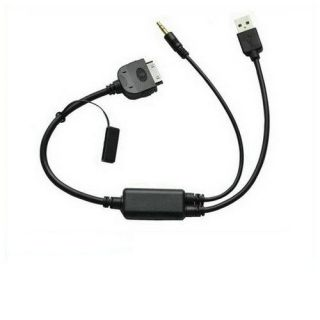 BMW I Drive iPod iPhone Audio Input Charge Cable for BMW Mini Cooper E60 E71 E87