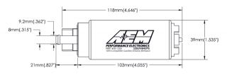 Aem E85 Methanol Ethanol 320LPH High Flow in Tank Fuel Pump