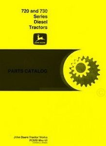 John Deere 720 730 Diesel Engine Tractor Parts Manual Catalog JD PC 532