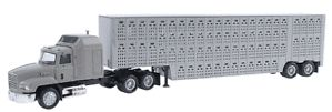 Livestock Trailer with Mack Semi Cattle Trailer RTR Assembled HO Scale