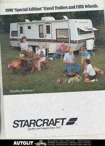 1990 Starcraft Travel Trailer Fifth Wheel Travel Trailer camper Brochure WS4283