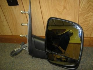 03 06 Ford E 150 E 250 Econoline Van RH Passenger Power Mirror w Puddle Lamp