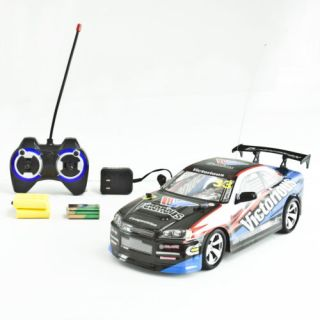 1 14 Radio Control Racing Car Drift RC Remote Boy Toy Battery Operated White