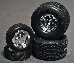 1 25 Scale Model Car Parts Junk Yard Firestone Pro Street Wheels Tires