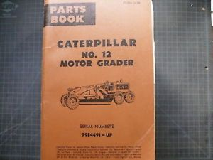 Cat Caterpillar 12 Motor Grader Parts Manual Book 99E Catalog Shop Spare List