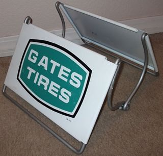 Vintage Old Gates Tires Tractor Semi Truck Tire Display Sign