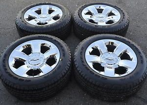 "20"" Chevrolet Silverado 1500 Truck Chrome Wheels Rims Tires Factory 2014"