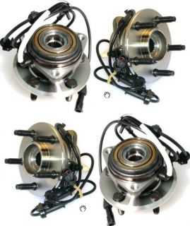 1995 2001 Ford Explorer Mountaineer Front Wheel Hub Bearing w ABS Sensor Pair