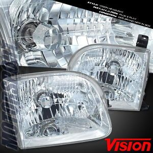 2001 2002 2003 2004 Toyota Sequoia SUV Limited SR5 Headlight Euro Clear Assembly