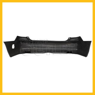 03 05 Accord Rear Bumper Cover Raw Black Plastic No Primered 4DR DX LX Unpainted