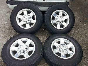 "2012 Dodge RAM Truck 2500 3500 2011 17"" Polished Wheels Michelin Tires"