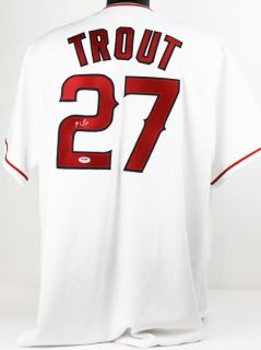 Angels Mike Trout Signed Authentic Jersey Autographed PSA DNA T77380