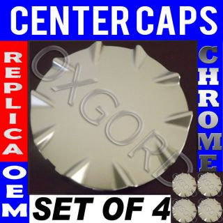 4 PC Set Chevy SSR Silver Center Caps Steel Wheels Alloy Rims Pop in Hub Cover