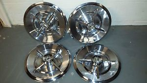Genuine Mopar 1957 57 Dodge Royal Lancer Hubcaps Wheelcovers Rat Rod 50's Custom