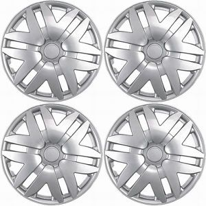 "4 Piece Set Silver ABS Fits 2004 2005 2006 2007 Toyota Sienna 16"" Wheel Hub Caps"