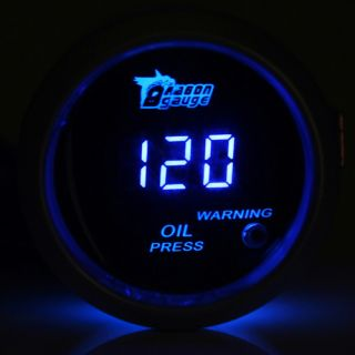 "2"" 52mm Digital Blue LED Oil Pressure Oil Temp Boost Tachometer Water Temp Gauge"